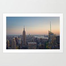 New York City, Empire State Building at dusk Art Print