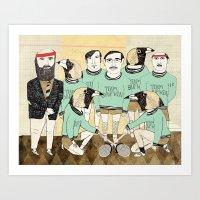 darwin Art Prints featuring Team Darwin by RetroWhale