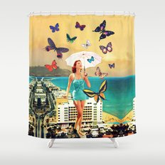 Petaloudes Shower Curtain