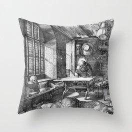 Saint Jerome in His Study by Albrecht Dürer Throw Pillow