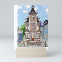 Kettle Falls Hall & Library - Watercolor Mini Art Print