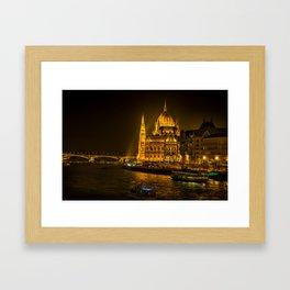 Hungarian Parliament Building Framed Art Print