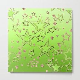 Bright green  lime , green neon Metal Print