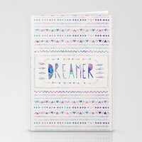 dreamer Stationery Cards featuring DREAMER by Bianca Green