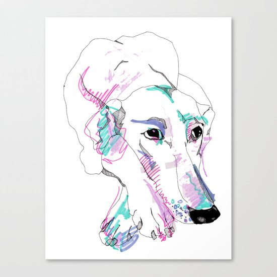 Lurcher Canvas Print