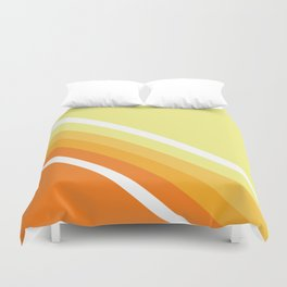 Retro Orange n' Yellow Lines Duvet Cover