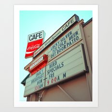 Marcia's Cafe Art Print