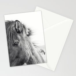 Horse Print | Modern and Black and White Stationery Cards