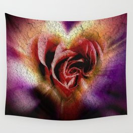 Red Rose for You Wall Tapestry