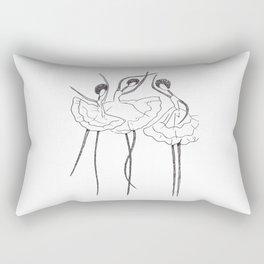 Ink and Ballet 3 Rectangular Pillow