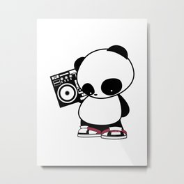 Hip Hop Panda Metal Print