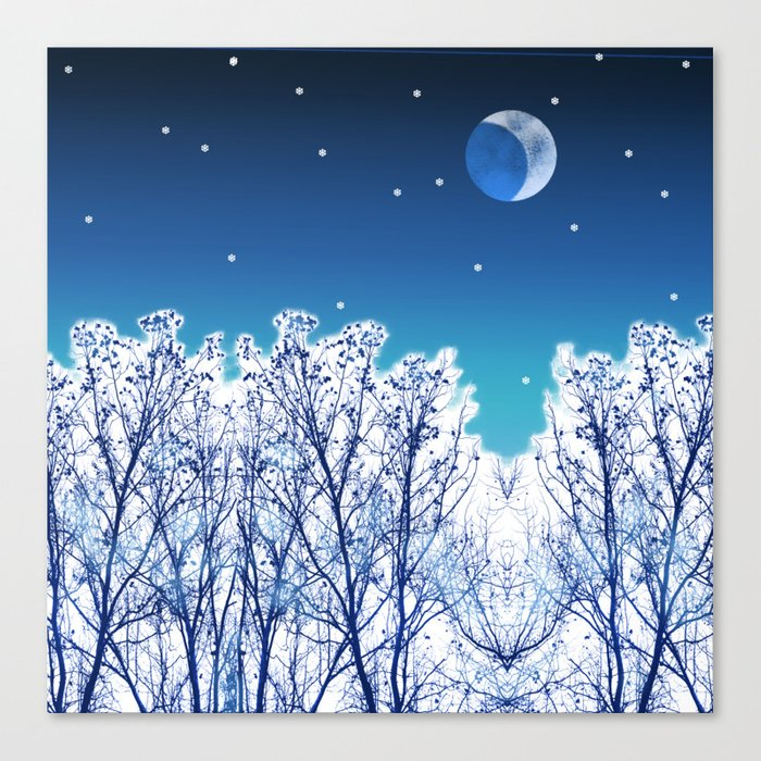 White Woods Snow Canvas Print
