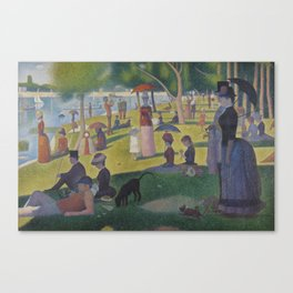 A Sunday Afternoon on the Island of La Grande Jatte (High Resolution) Canvas Print