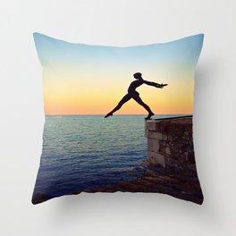 Over The Sea Throw Pillow