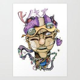 Pinocchio-ピノキオ Art Print