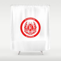 rush Shower Curtains featuring Rush by FunnyFaceArt