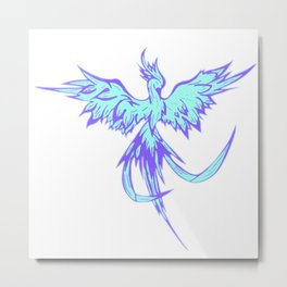Phoenix blue, firebird, fantasy Metal Print
