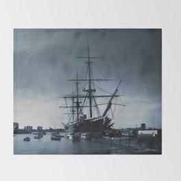 Ship The Warrior HMS 1860 Throw Blanket
