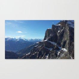 Gemmipass above Leukerbad, Valais, Swiss Alps III Canvas Print