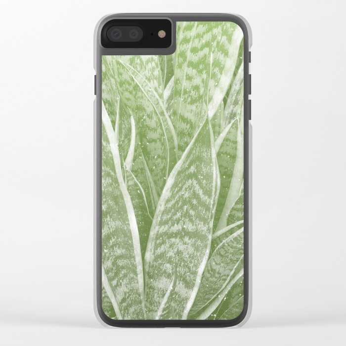 Sanseveria Clear iPhone Case