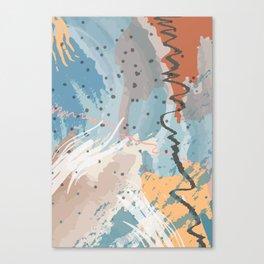 Sea Spray Blue Pattern Canvas Print