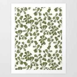 Fig Leaf Pattern Art Print
