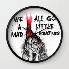 Mad inside Wall Clock