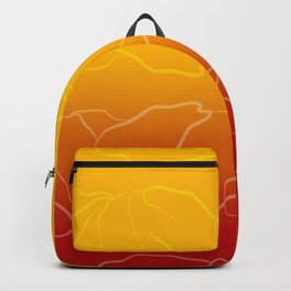 Sunset poppies Backpack