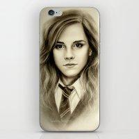 emma watson iPhone & iPod Skins featuring Hermione  Emma Watson  by Yuliya  Talanova