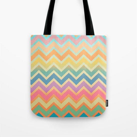 Summer-color Chevron Tote Bag