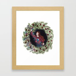 Holiday Wreath Framed Art Print