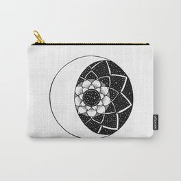 Crescent Moon Mandala Carry-All Pouch