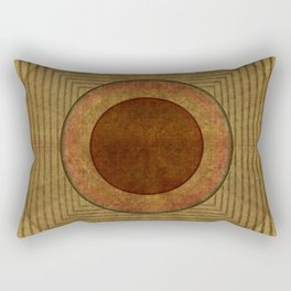 """Golden Circle Japanese Vintage"" Rectangular Pillow"