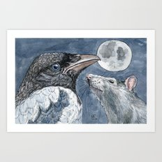 Moon C027 Art Print