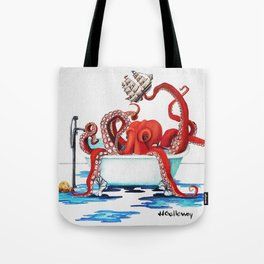 Bath Time Red Tote Bag