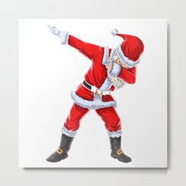 Dabbing Santa T Shirt Claus Christmas Funny Dab X-mas Gifts Metal Print
