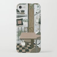 cafe iPhone & iPod Cases featuring View from the Cafe by Yuliya