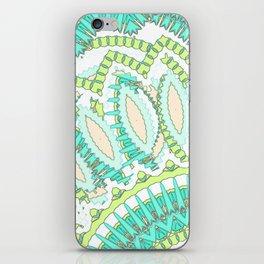 Mandala Explosion in Green & Teal iPhone Skin