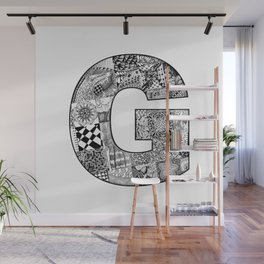 Cutout Letter G Wall Mural