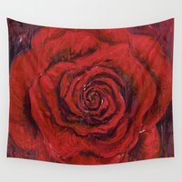 oil Wall Tapestries featuring Midnight Oil by Lauri Matisse