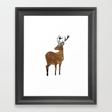 deer · things from the past Framed Art Print