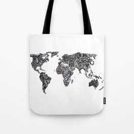 Word Map in a parallel universe Tote Bag