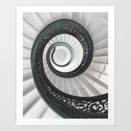 Spiral Staircase at the Peabody, Baltimore Art Print