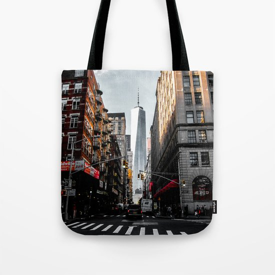 Lower Manhattan One WTC Tote Bag