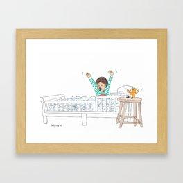 Morning Routine 1 - Waking Up Framed Art Print