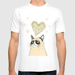 Grumpy Pizza Love T-shirt