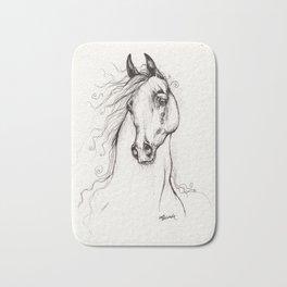 Arabian horse drawing tattoo Bath Mat