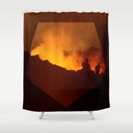2Etna.1983 Shower Curtain