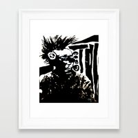 punk Framed Art Prints featuring Punk by Shane R. Murphy
