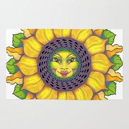 Sunflower Sunshine Girl by Amanda Martinson Rug